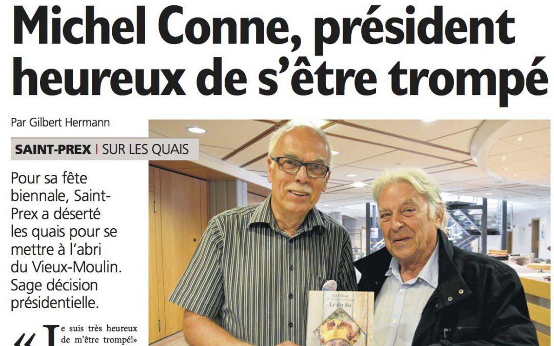 Michel Conne, président heureux de s'être trompé